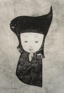 紙板版画by越後しの